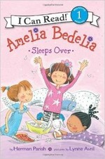 Book cover of AMELIA BEDELIA SLEEPS OVER