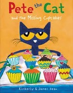 Book cover of PETE THE CAT & THE MISSING CUPCAKES