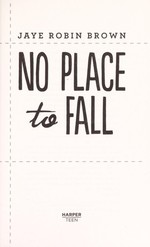 Book cover of NO PLACE TO FALL