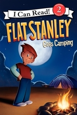 Book cover of FLAT STANLEY GOES CAMPING