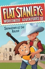 Book cover of FLAT STANLEY 10 SHOWDOWN AT THE ALAMO