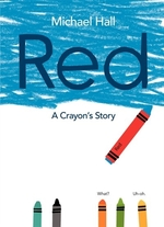 Book cover of RED - A CRAYON'S STORY