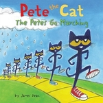 Book cover of PETE THE CAT THE PETES GO MARCHING