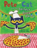 Book cover of PETE THE CAT & THE PERFECT PIZZA PARTY
