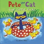 Book cover of PETE THE CAT 5 LITTLE DUCKS