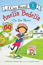 Book cover of AMELIA BEDELIA ON THE MOVE
