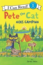 Book cover of PETE THE CAT GOES CAMPING