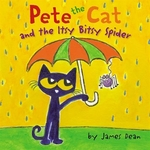 Book cover of PETE THE CAT & THE ITSY BITSY SPIDER