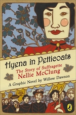 Book cover of HYENA IN PETTICOATS - NELLIE MCCLUNG
