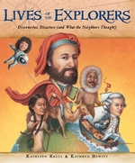 Book cover of LIVES OF THE EXPLORERS - DISCOVERIES DI