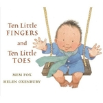 Book cover of 10 LITTLE FINGERS & 10 LITTLE TOES