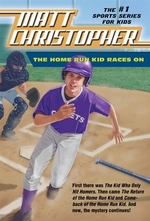 Book cover of HOME RUN KID RACES ON