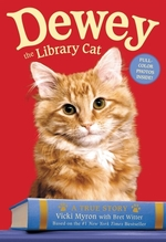 Book cover of DEWEY THE LIBRARY CAT - A TRUE STORY