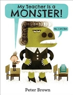 Book cover of MY TEACHER IS A MONSTER