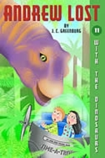 Book cover of ANDREW LOST 11 WITH THE DINOSAURS