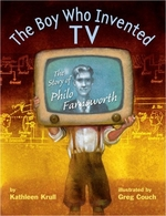 Book cover of BOY WHO INVENTED TV - THE STORY OF PHILO