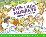 Book cover of 5 LITTLE MONKEYS SITTING IN A TREE