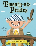 Book cover of 26 PIRATES - AN ALPHABET BOOK