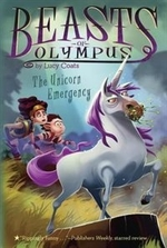 Book cover of BEASTS OF OLYMPUS 08 UNICORN EMERGENCY