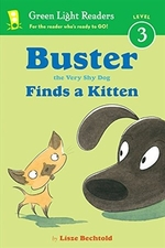 Book cover of BUSTER THE VERY SHY DOG - FINDS A KITTEN