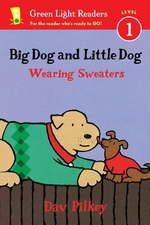 Book cover of BIG DOG & LITTLE DOG WEARING SWEATERS