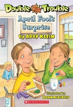 Book cover of DOUBLE TROUBLE 02 APRIL FOOL'S SURPRISE