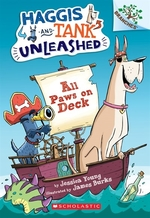 Book cover of HAGGIS & TANK UNLEASHED 01 ALL PAWS ON D