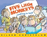 Book cover of 5 LITTLE MONKEYS READING IN BED