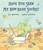 Book cover of HAVE YOU SEEN MY NEW BLUE SOCKS
