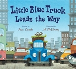 Book cover of LITTLE BLUE TRUCK LEADS THE WAY