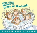 Book cover of 5 LITTLE MONKEYS JUMP IN THE BATH