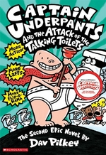 Book cover of CAPTAIN UNDERPANTS 02 ATTACK OF THE TALK