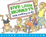 Book cover of 5 LITTLE MONKEYS WITH NOTHING TO DO