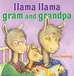 Book cover of LLAMA LLAMA GRAM & GRANDPA