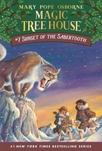 Book cover of MAGIC TREE HOUSE 07 SUNSET OF THE SABRET