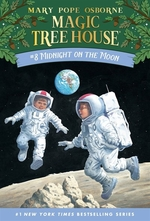 Book cover of MAGIC TREE HOUSE 08 MIDNIGHT ON THE MOON
