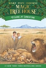 Book cover of MAGIC TREE HOUSE 11 LIONS AT LUNCHTIME