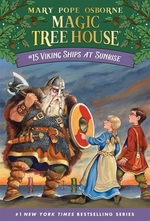 Book cover of MAGIC TREE HOUSE 15 VIKING SHIPS AT SUNR