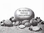 Book cover of ON MY BEACH THERE ARE MANY PEBBLES
