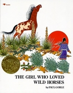 Book cover of GIRL WHO LOVED WILD HORSES