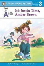 Book cover of AMBER BROWN - IT'S JUSTIN TIME AMBER BRO