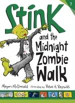 Book cover of STINK & THE MIDNIGHT ZOMBIE WALK