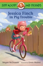 Book cover of JESSICA FINCH IN PIG TROUBLE