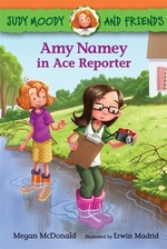 Book cover of AMY NAMEY IN ACE REPORTER