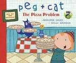 Book cover of PEG & CAT THE PIZZA PROBLEM