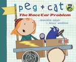 Book cover of PEG & CAT THE RACE CAR PROBLEM