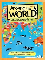 Book cover of AROUND THE WORLD A COLOURFUL ATLAS FOR K