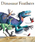 Book cover of DINOSAUR FEATHERS