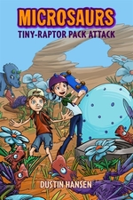 Book cover of MICROSAURS 02 TINY-RAPTOR PACK ATTACK