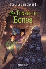 Book cover of DOUBLE DETECTIVES - TUNNEL OF BONES